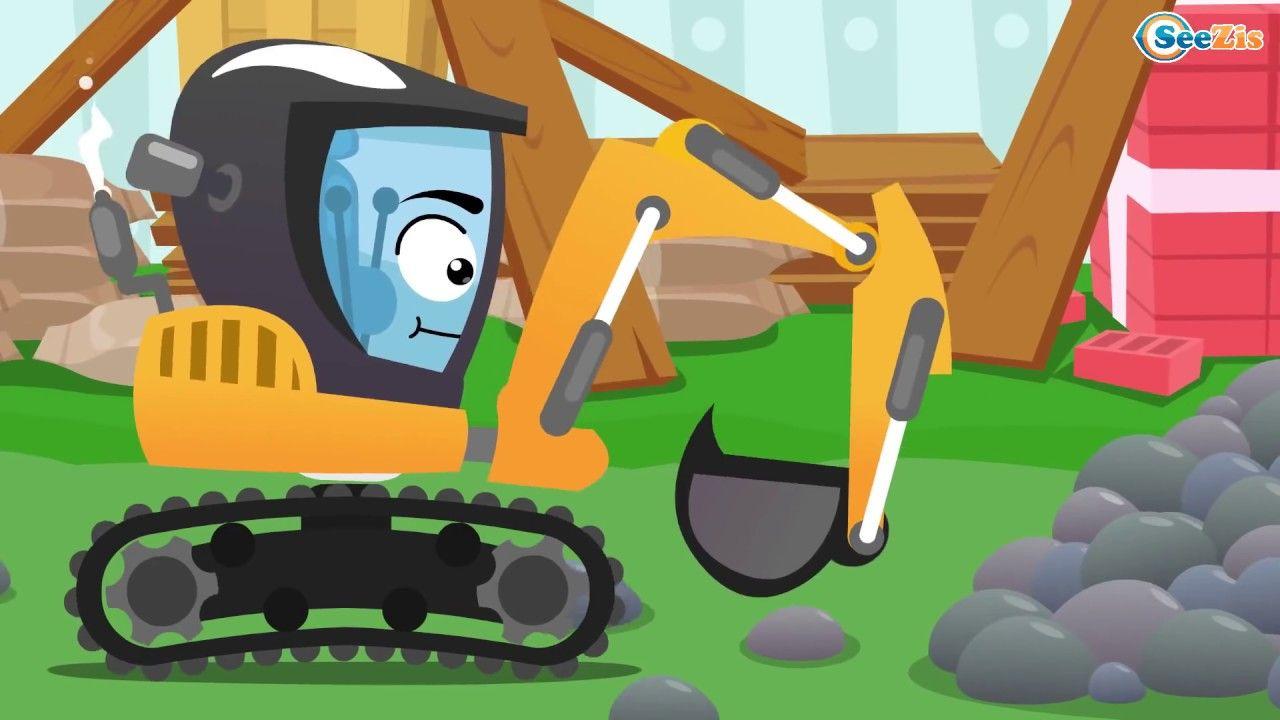 Bagger Und Traktor Kinderfilm Bagger Grabt Grube Cartoon Fur Kinder Kinder Filme Zeichentrickfilme Kinderfilm