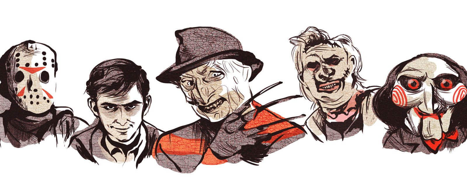 how to draw horror movie characters
