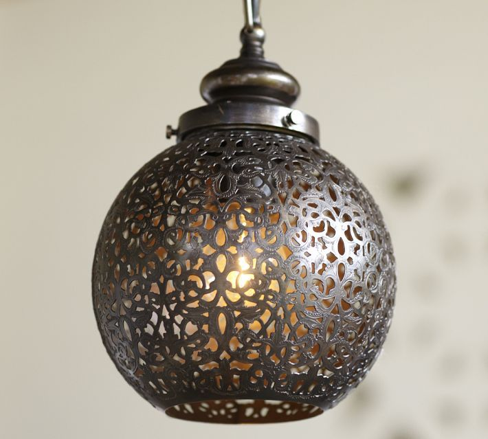 Pendant Light Over Kitchen Sink: Over The Sink Moroccan Pendant With #BeveledBacksplash