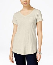 Style & Co V-Neck T-Shirt, Only at Macy's