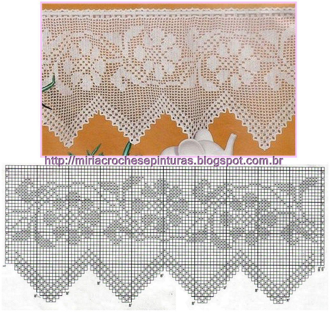 Barrados De Croche Com Graficos Flores N 380 Barrados De