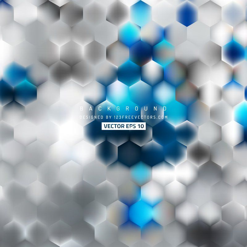 Blue Gray Hexagon Background Template Background Templates Free