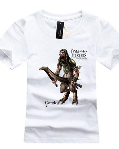 Plus size branco dos homens camisetas DOTA herói Bounty Hunter design impresso-