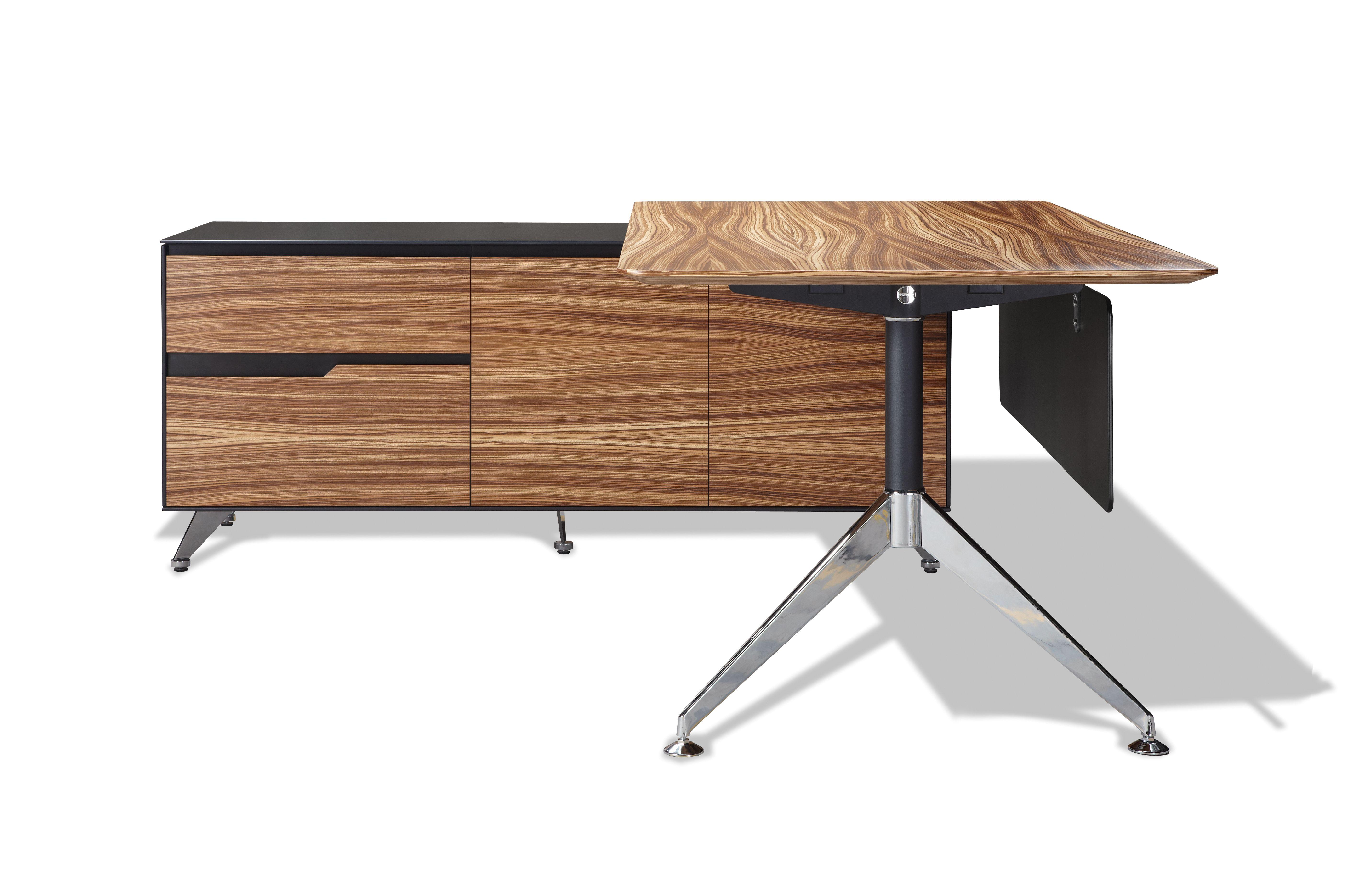 unique furniture 400 series 77 x 73 zebrano executive desk with rh pinterest com