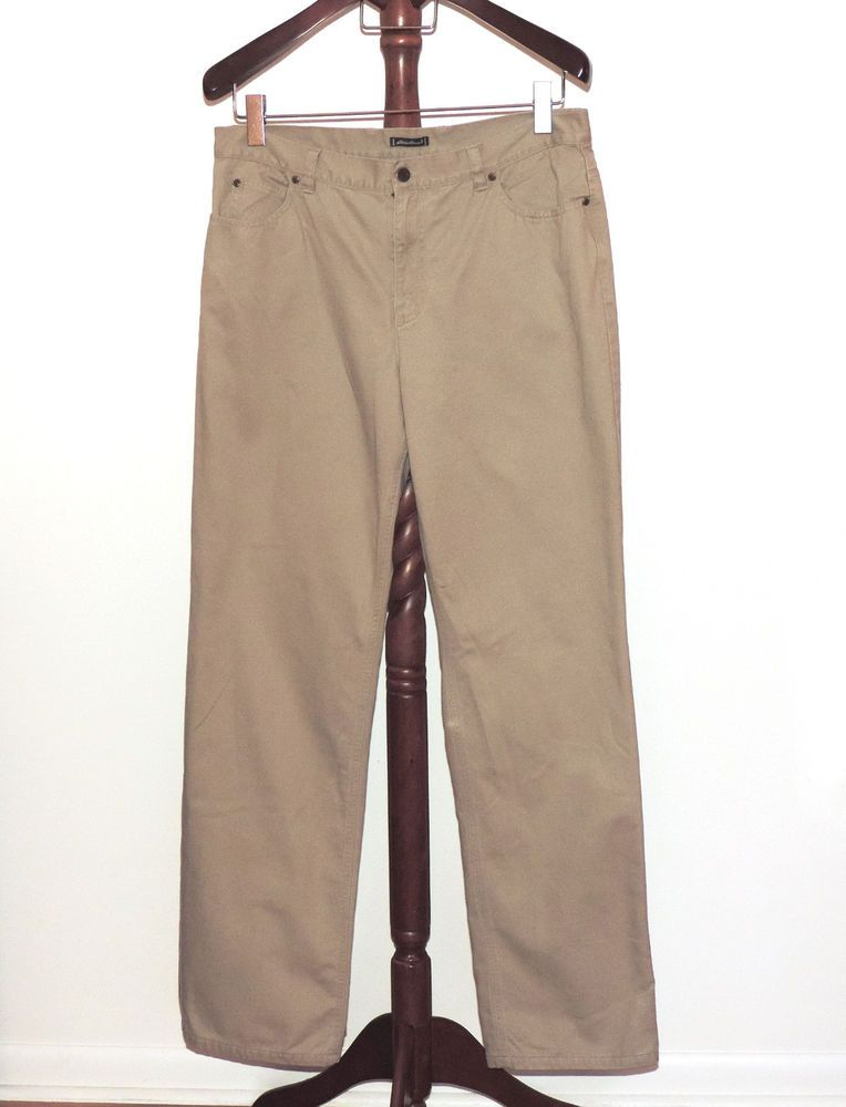 eddie bauer sz 16 tall flannel lined tan beige khaki pants rh pinterest com