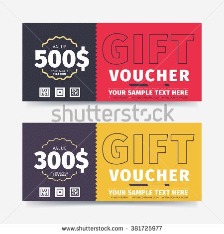 Gift voucher template with market special offer Two side of