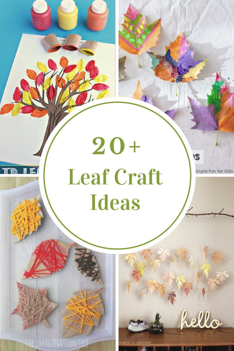 Leaf Crafts for Kids | Projects to Try | Leaf crafts, Crafts
