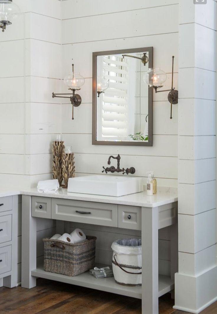 blue farmhouse bathroom bath in 2019 shiplap bathroom grey rh pinterest com