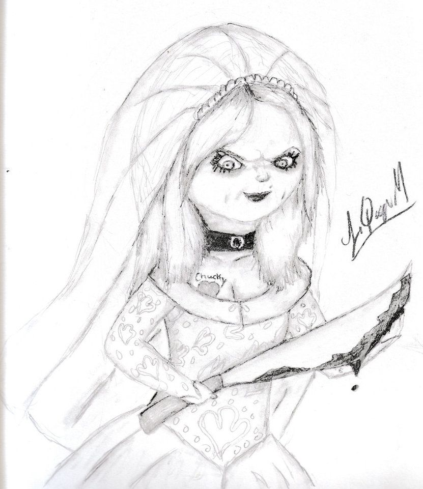 Coloring Pages Chucky S Bride 2 By Laquyn D5lo2kyucky Coloring Pages Color Chucky