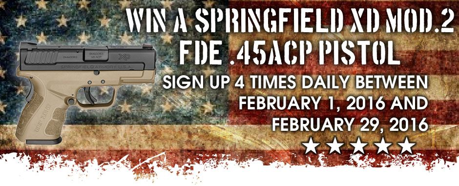 Register for GrabAGun com's monthly gun giveaway! From Sig Sauers to