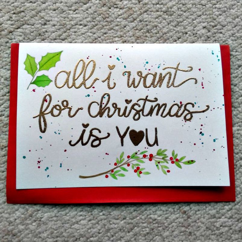 All I Want for Christmas Is You Card. Christmas Card. Holiday Card ...