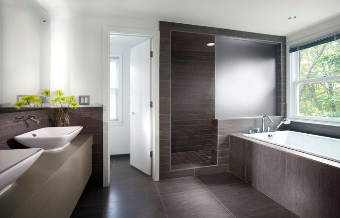 Badkamer half betegelen home pinterest badkamer badkamers en zoeken - Mooie badkamers ...