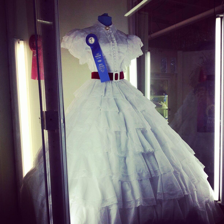 Scarlett ouhara dress replica blue ribbon prize winner at the