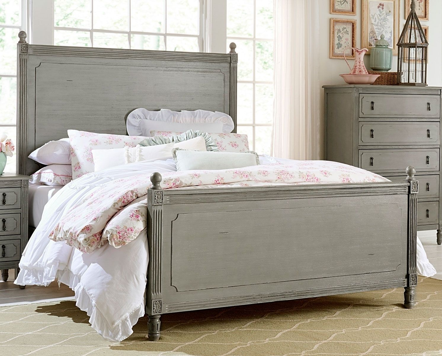 homelegance 1977 1 aviana traditional antiqued gray wood queen bed rh pinterest com