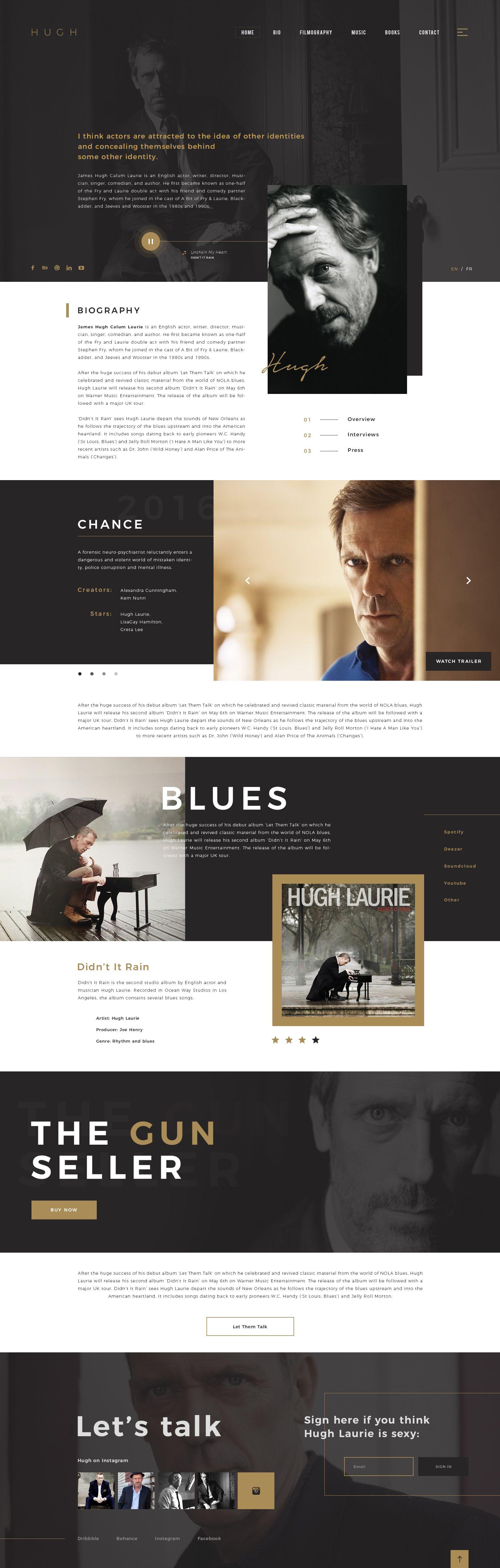 Hugh Personal Website Personal Website Design Magazine Website Design Minimal Web Design