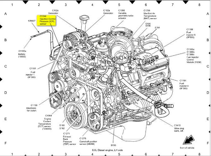 ford 6 0 powerstroke engine diagram