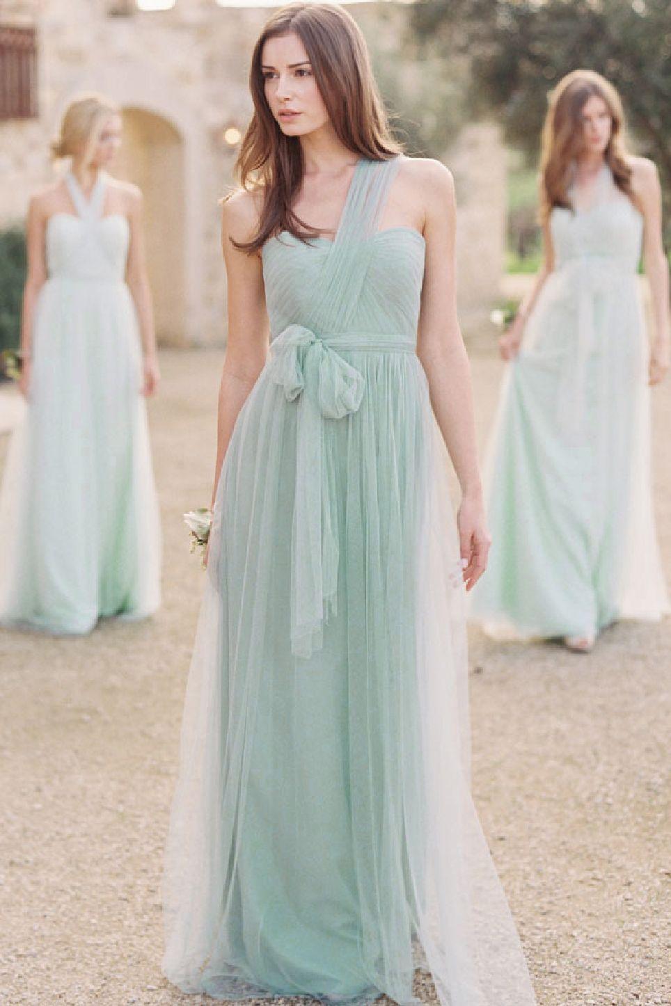 Bridesmaid dresses spearmint sea glass wedding pinterest bridesmaid dresses spearmint sea glass ombrellifo Choice Image