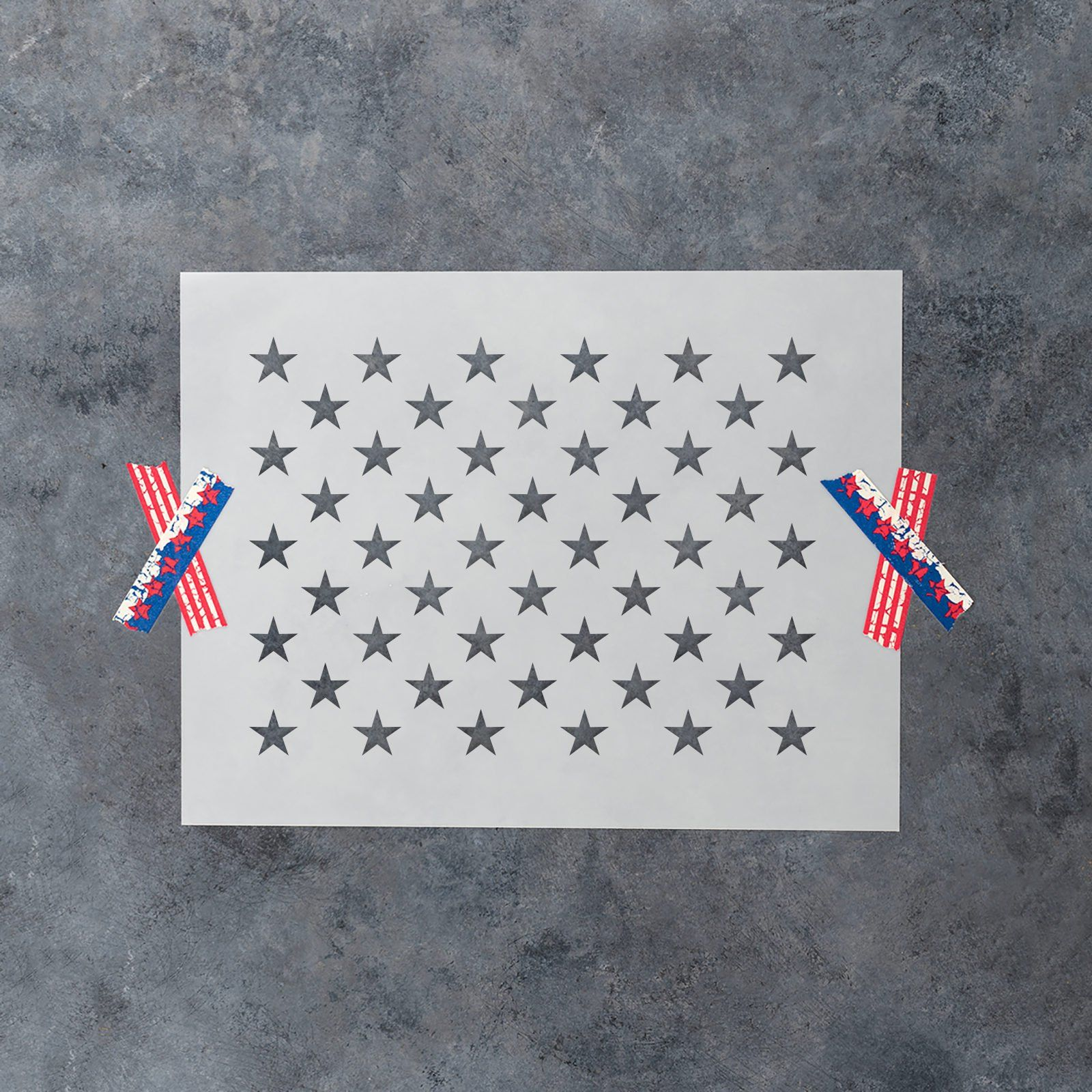 50 stars stencil for diy wood american flags multiple