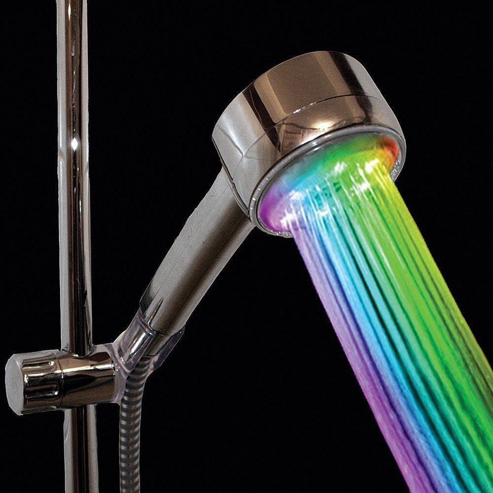 Faucet 7 LED Light Color Change Showerhead Bathroom Wall-Mount ...