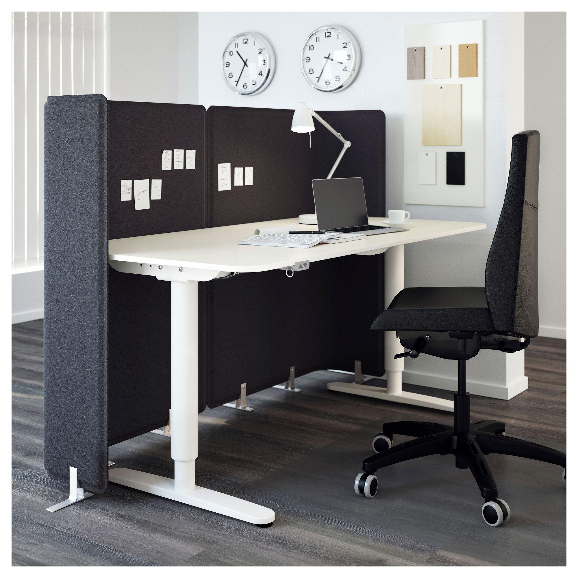 ikea bekant reception desk sit stand white in 2019 office ikea rh pinterest com