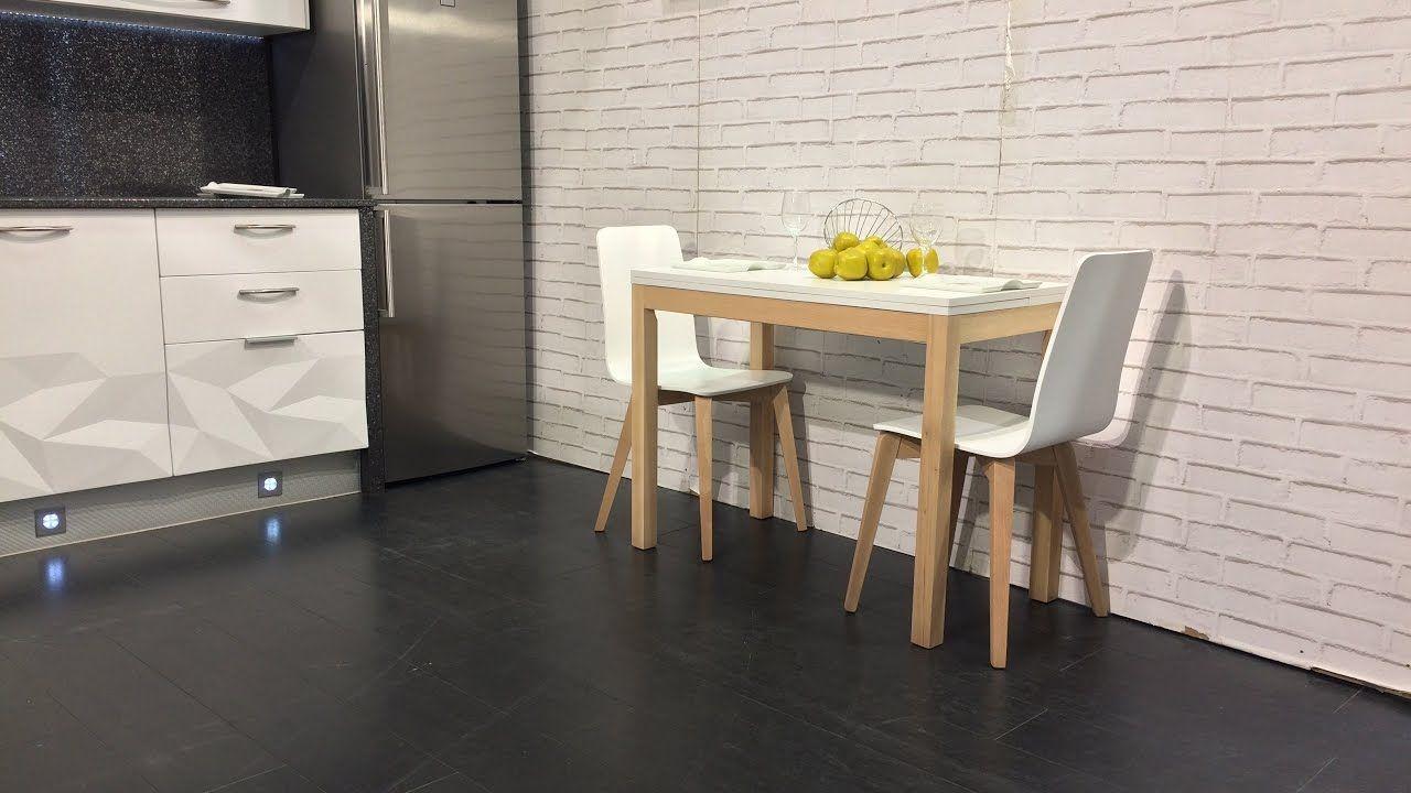 Mesa cocina pequeña Maxima estilo nordico en medida de 100x50 cm ...