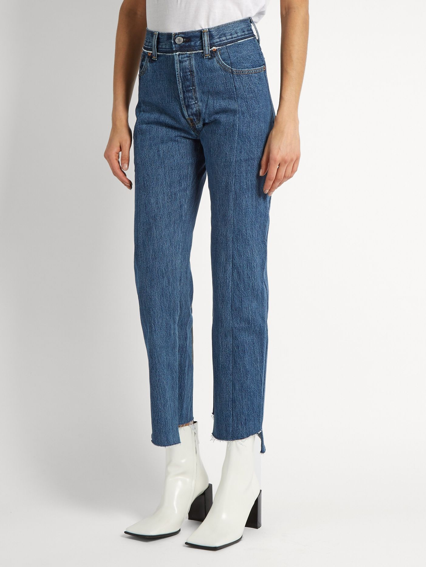 Click here to buy Vetements X Levi's reworked straight leg