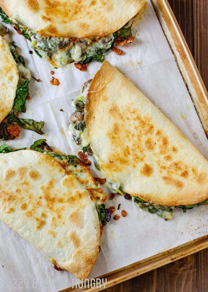 Photo of Baked Spinach Mushroom Quesadillas