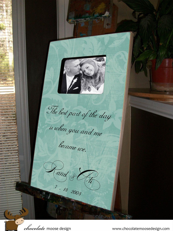 Personalized Wedding Gift Personalized by chocolatemooseframe