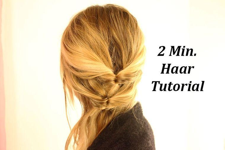 2 minuten haar - tutorial   haar und anleitungen