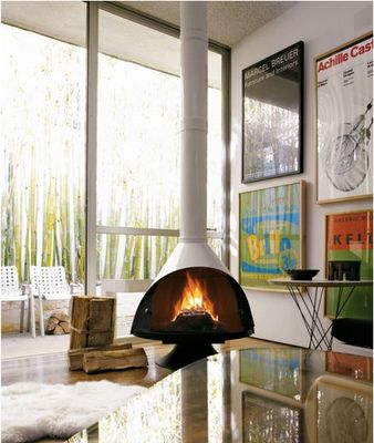 Picture 865 Freestanding Fireplace Midcentury Fireplaces Malm Fireplace