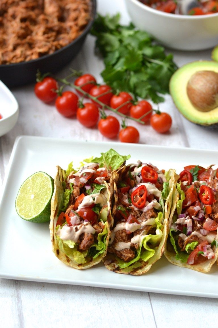 Shredded Chicken Tacos #shreddedchickentacos