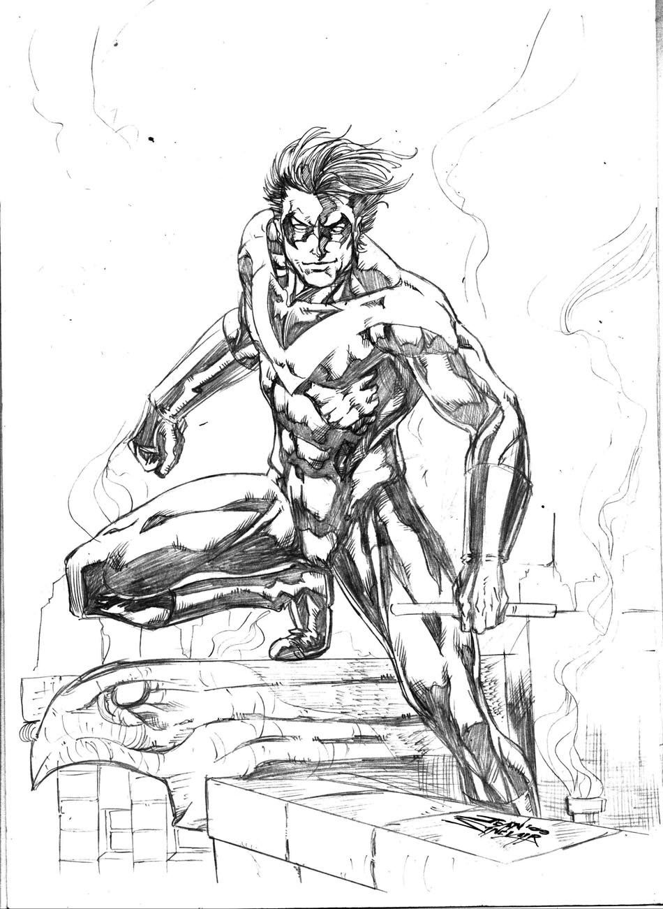 nightwing new 52 coloring pages - photo#4