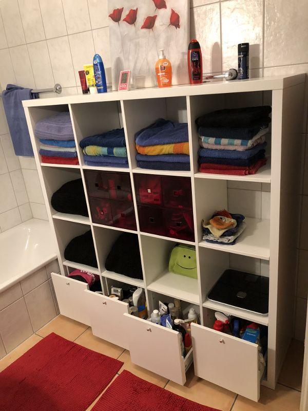 Ikea Kallax Shelf Hacks For Your Bathroom Bathroom Hacks Kallax