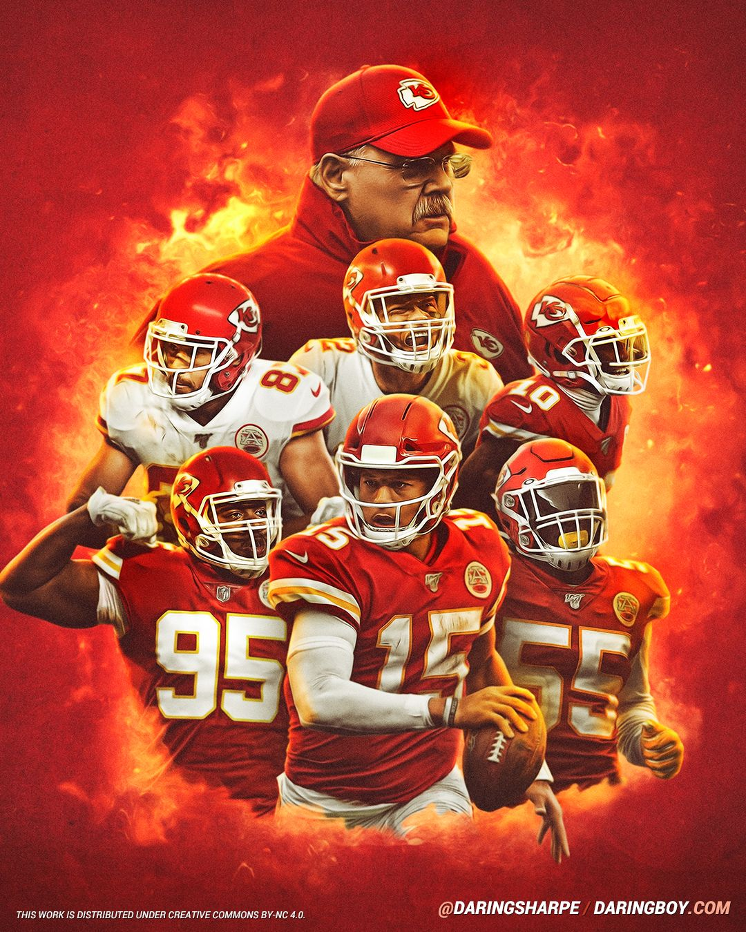 Andy Reid Tyreek Hill Frank Clark Tyrann Mathieu Patrick Mahomes Chris Jones In 2020 Kansas City Chiefs Funny Kansas City Chiefs Logo Kansas City Chiefs Football