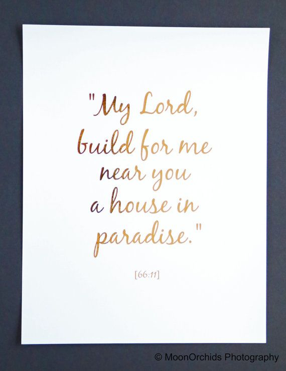 "Wall Art Near Me real gold foil print - ""my lord, build for me near you a house in"