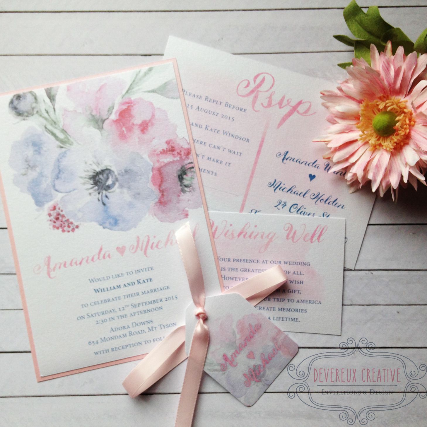 Handcrafted wedding invitation gallery for inspiration on
