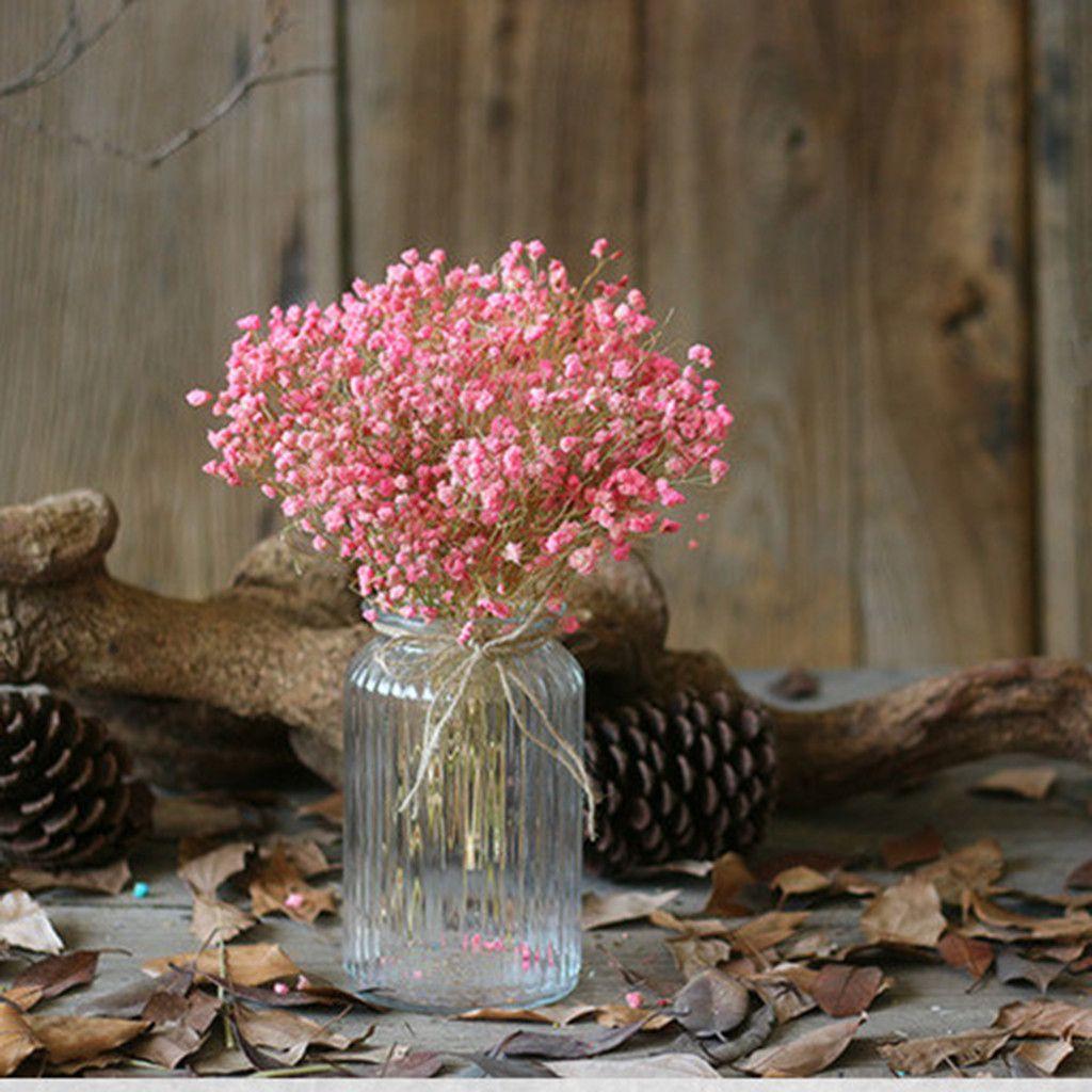 Gobestart Natural Dried Flower Baby S Breath Home Decor Natural Dried Flower Full Stars Gy Walmart Com In 2020 Dried Flowers Dried Flower Bouquet Wedding Decor Vases
