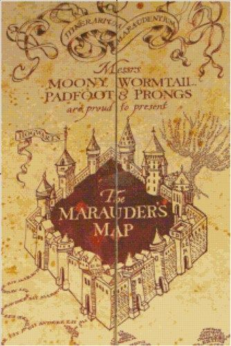 Harry potters marauders map pdf cross stitch pattern harry potters marauders map pdf cross stitch pattern csdesignsbyleah patterns on artfire gumiabroncs Image collections