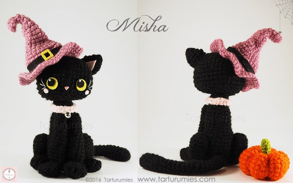 Amigurumi Patrón: Gatita Misha Halloween | Pinterest | Historia de ...