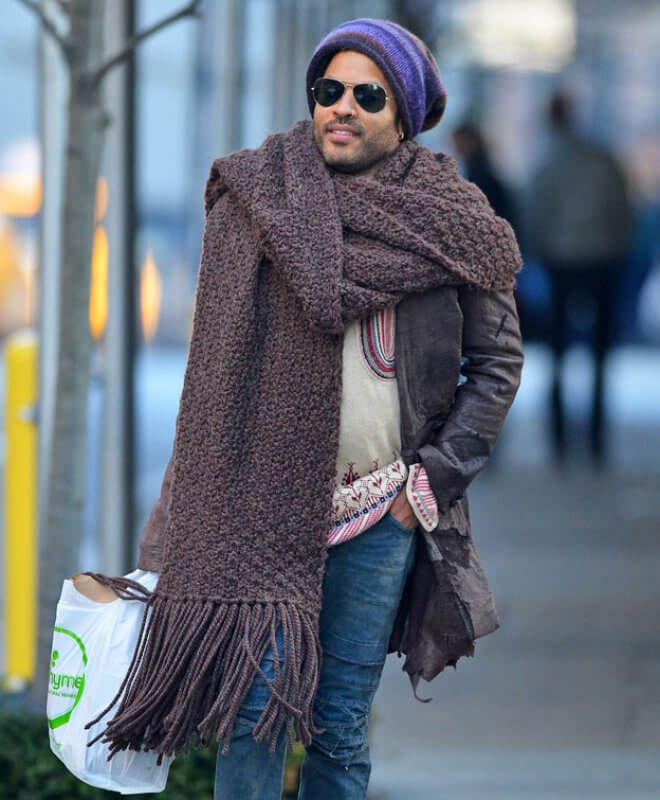 0fb1e0a6b Remember When lenny kravitz scarf Was So Huge The Internet Lost It's ...