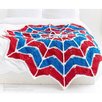 A Primary Color Ripple Blanket Will Look Fantastic In Any Kids Room