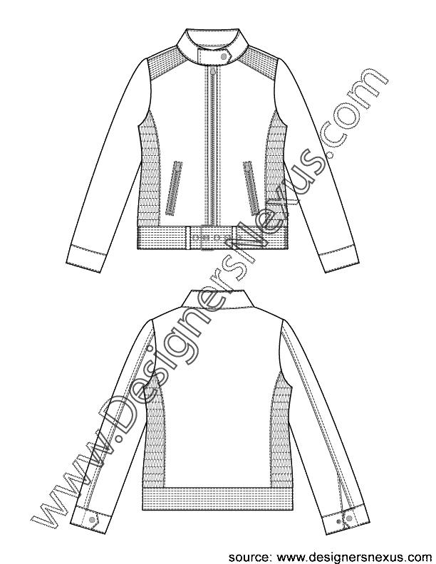 Free Illustrator Fashion Templates Jacket Flat Sketches Flat Sketches Fashion Templates Fashion Design Portfolio