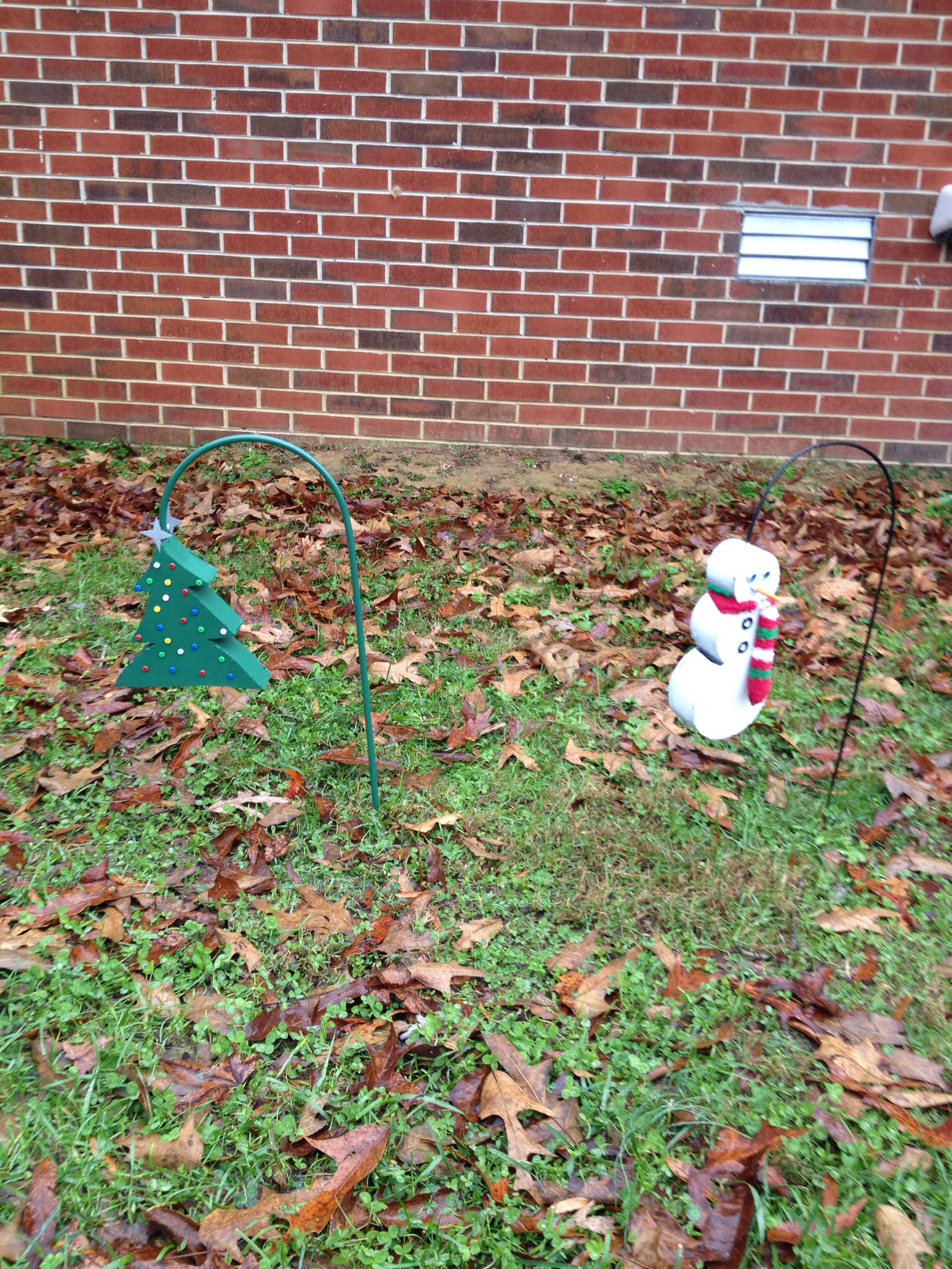 Christmas Tree And Snowman From Sheet Metal Sheet Metal