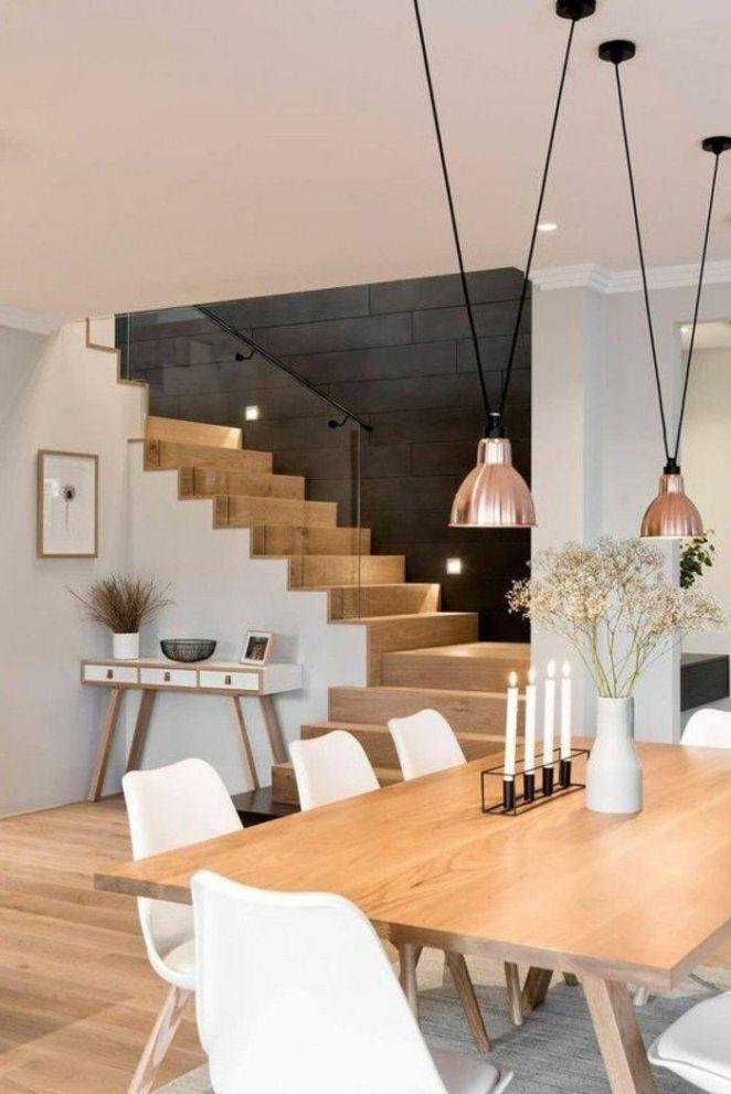 Déco Salon \u2013 meubles de salle à manger, escalier bois et blanc