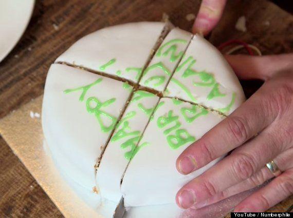 como partir un pastel