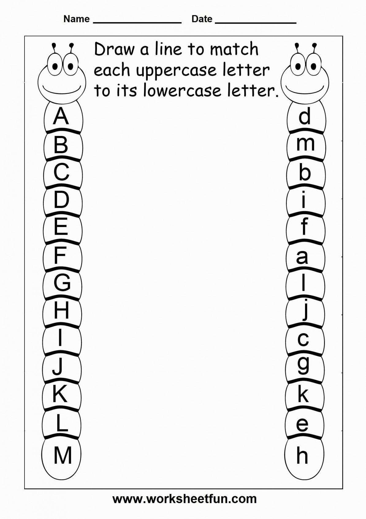 Fine Alphabet Recognition Worksheets For Kindergarten That