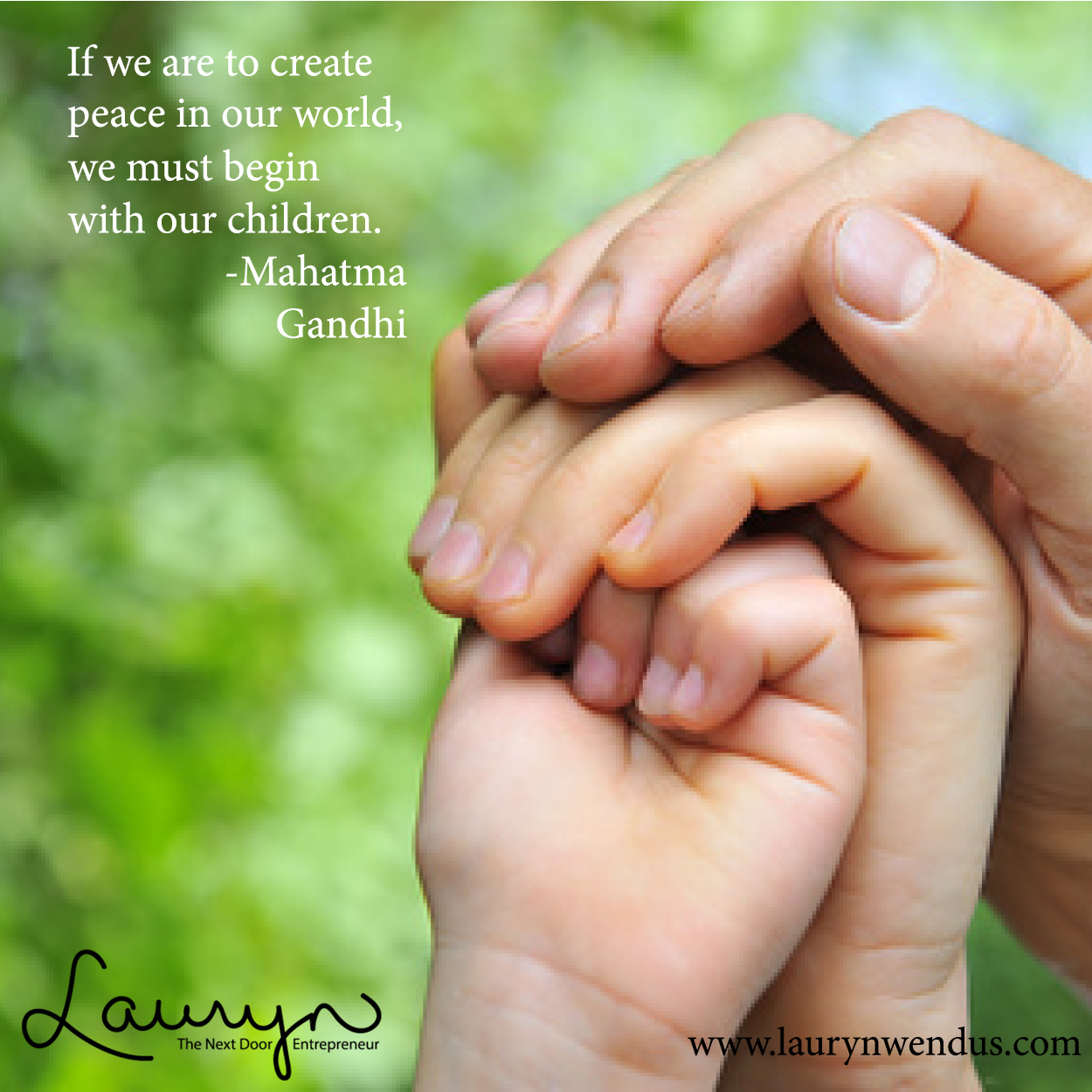 """""""If we are to create peace in our world, we must begin with our children."""" -Mahatma Gandhi #worldpeaceday #quotes"""