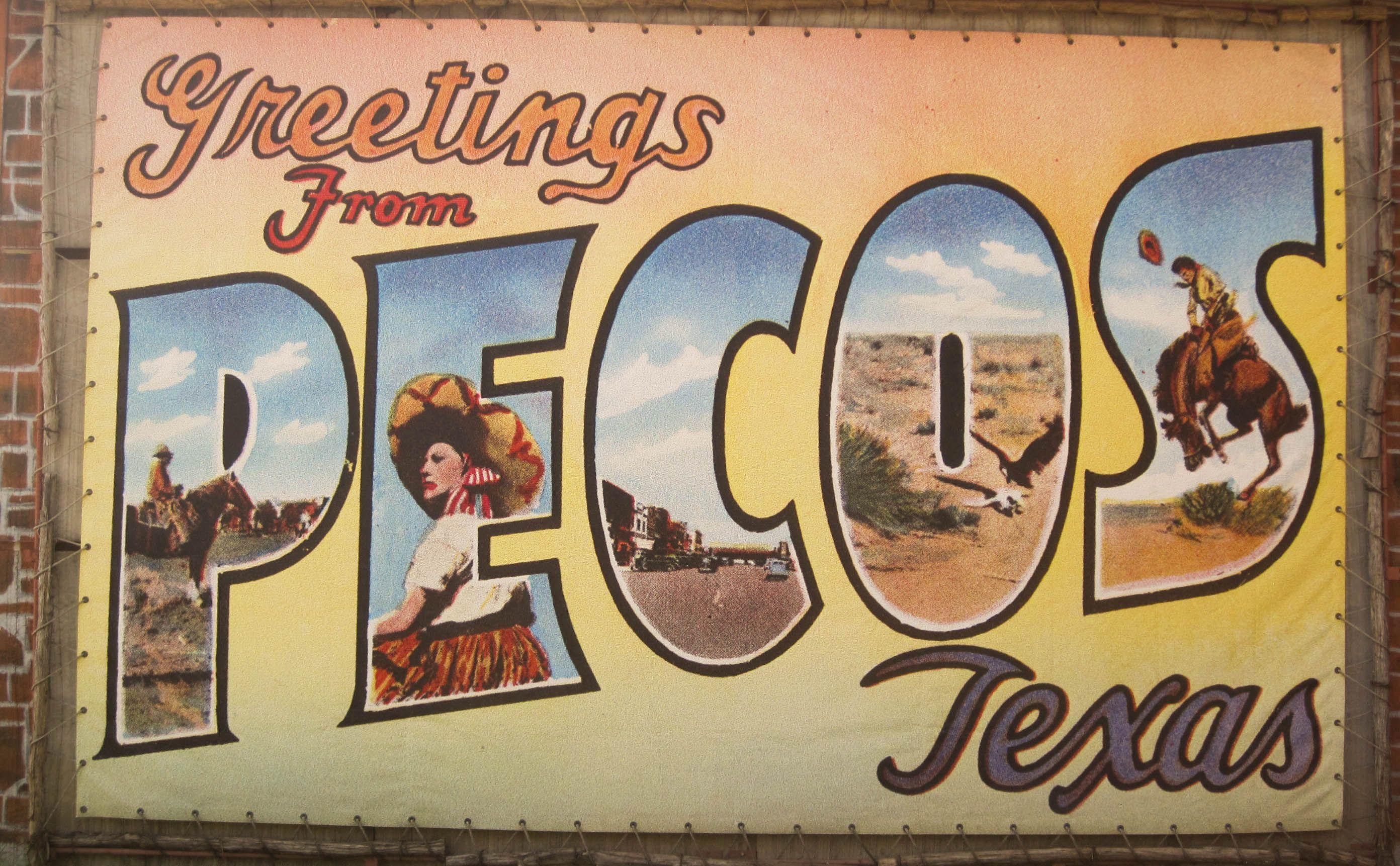 Welcome To Pecos Wall Mural Pecos Tx Pecos Pecos Texas Texas Towns