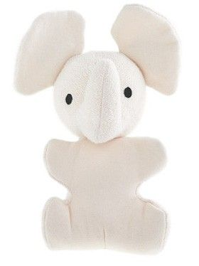 This Little Elephant Is Made With Organic Dye Free Cotton And