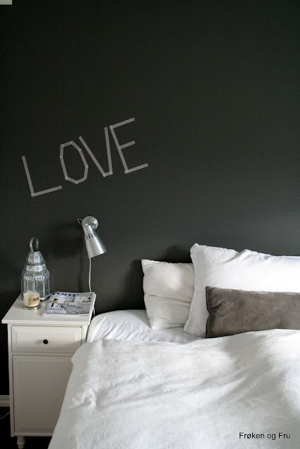 masking tape on the wall ♥